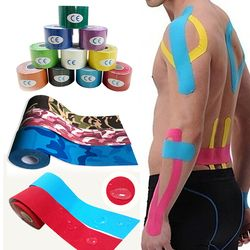 Sale 2.5cm 5M Elastic Tape Roll Muscle Care Strain Injury Support Cotton Waterproof Muscle Sticky