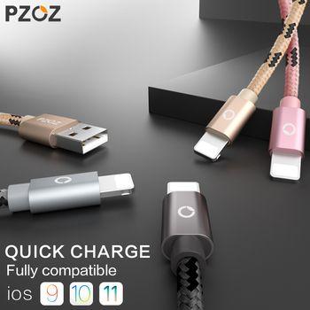 PZOZ usb câble pour iphone câble 8 7 6 plus 6 s 5 5S se X ipad 2 mini rapide de charge câbles mobile téléphone chargeur cordon données adaptateur