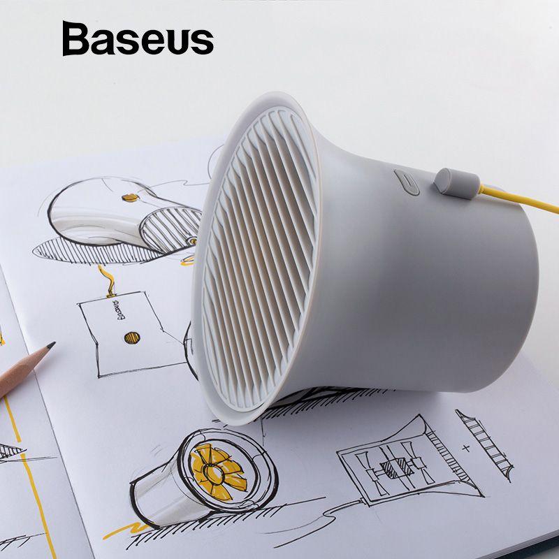 Baseus Mini USB Kühler Fan Protable Kühlung Schreibtisch Fan für Büro Häuser Desktop Doppel-vane Klimaanlage 2- geschwindigkeit Einstellbar Fan