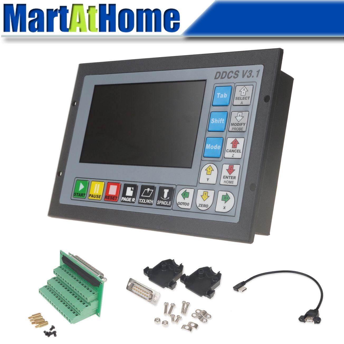 3/4 achse 500Khz CNC Motion Controller DDCSV3.1 Offline Bedienen 1GB Interne G code Unterstützung USB Flash Disk @ SD # SP061