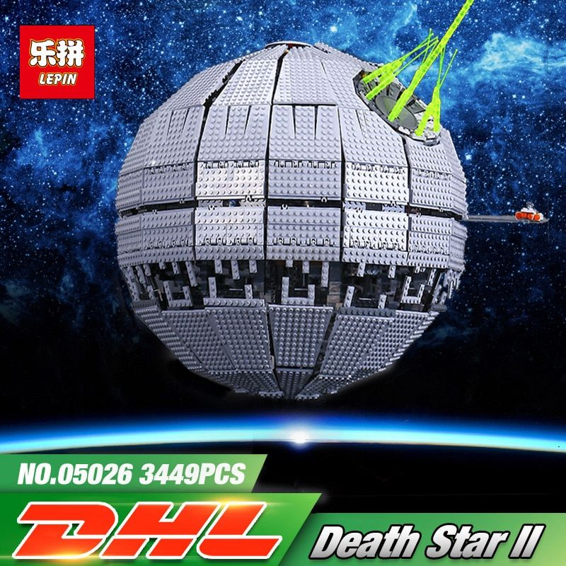 LEPIN 05026 Star Children Gifts Wars 3449Pcs Death The second generation Building Block Bricks Toys Compatible legoing 10143