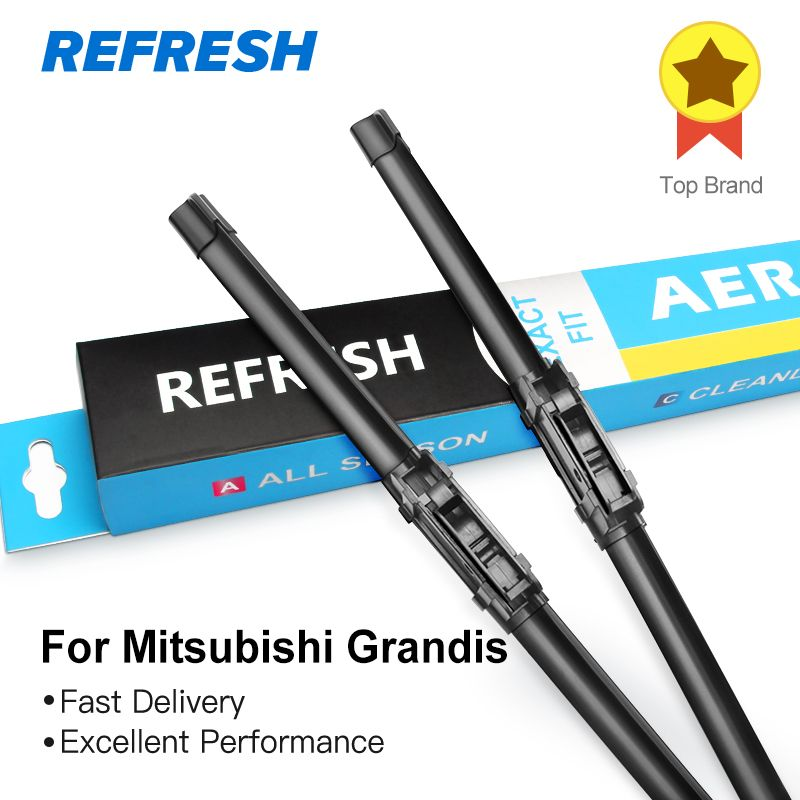 REFRESH Wiper Blades for Mitsubishi Grandis Fit Heavy Duty Hook Arm 2004 2005 2006 2007 2008 2009 2010 2011
