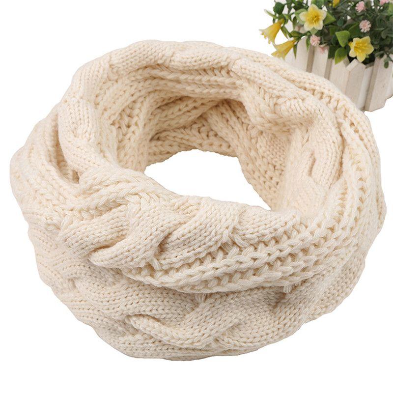 2017 зима теплая вязаная Lic шарф для Для женщин Для мужчин Solid Loop кольцо Шарфы для женщин Для женщин серый белый шерстяной шарф воротник унисек...