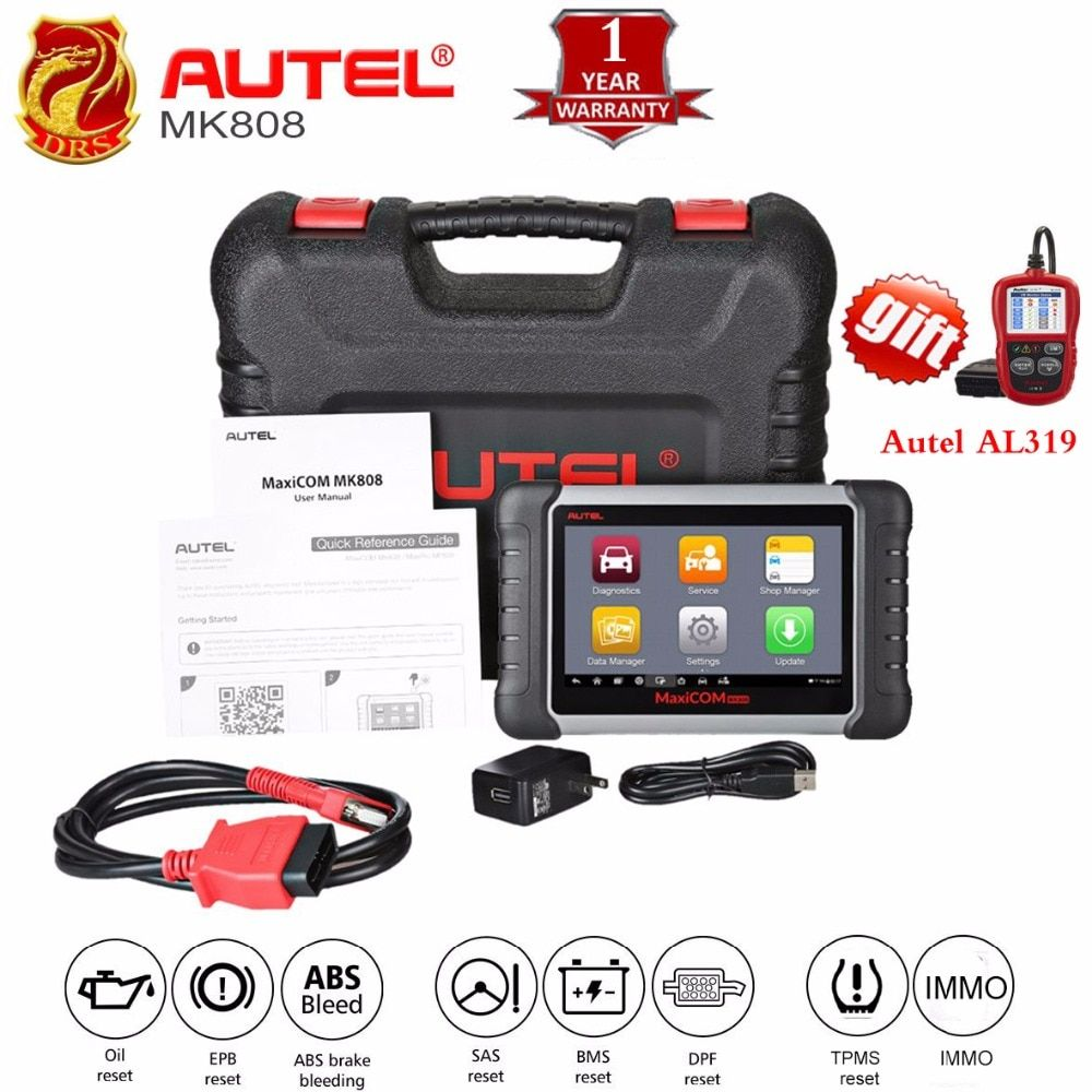 Autel MaxiCOM MK808 MX808 Automotive Scanner OBD2 OBDII Car Diagnostic Scanner Universal Wirless Full Systems Auto Code Reader