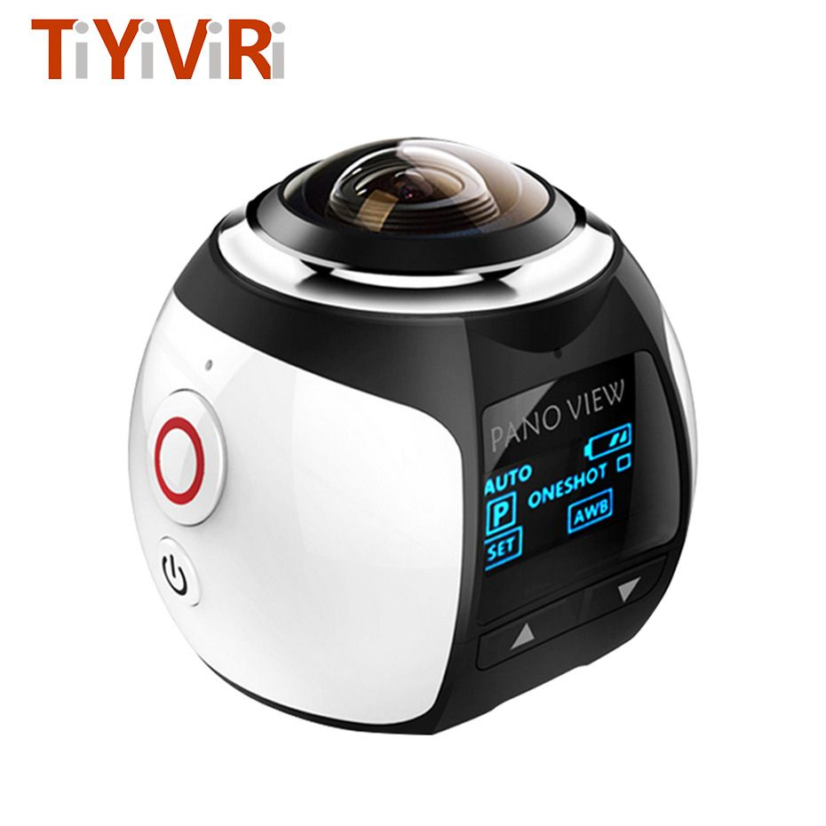 360 Panoramic Camera 360D Ultra HD Build-in Wifi Mini 3D Waterproof Sport Driving 360 Action Camera for Android/IOS Smartphone