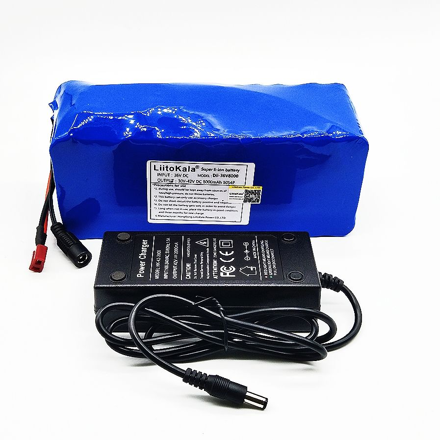 Liitokala 36 V 8ah High Capacity Lithium Battery + Mass package include 42 v 2A chager