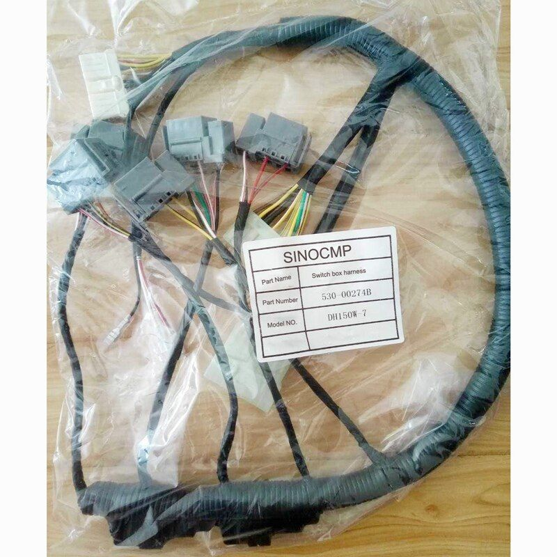 Switch Box Wiring Harness 530-00274B for Daewoo DH150w-7 Excavator Wire Cable, 3 month warranty