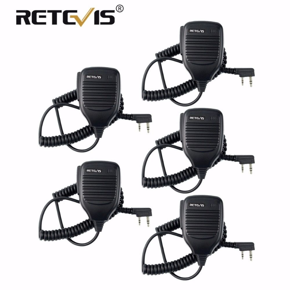 5X PTT Speaker Microphone Walkie Talkie Mic Accessories For Kenwood Retevis H777 RT7 RT22 For Baofeng UV-5R UV-82 for WLN KD-C1