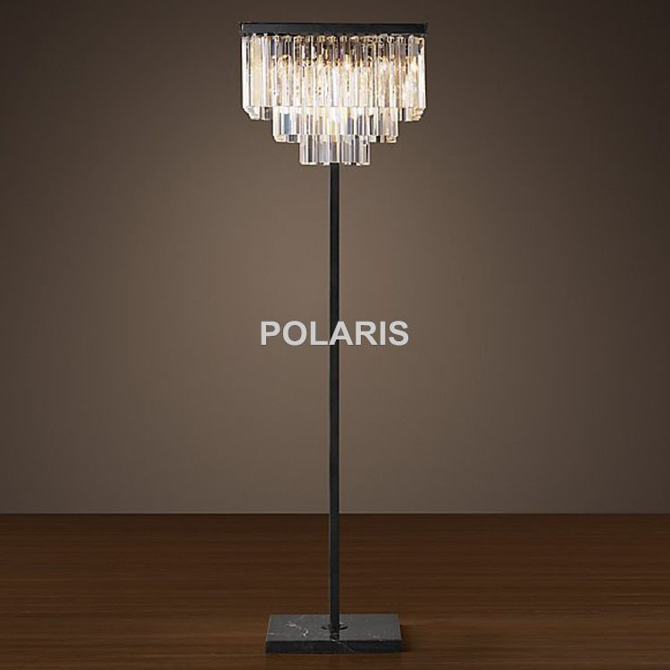 Factory Outlet Modern Vintage Square Crystal Floor Lamp Light Home Lighting Decoration Made by Polaris Lighting