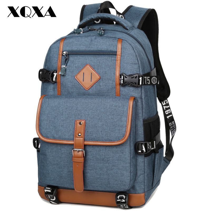 XQXA Style Oxford Backpack Men Dayback Backpack School Bag for Teenagers Boys <font><b>Laptop</b></font> Mochila Masculina Escolar Quality Bagpack