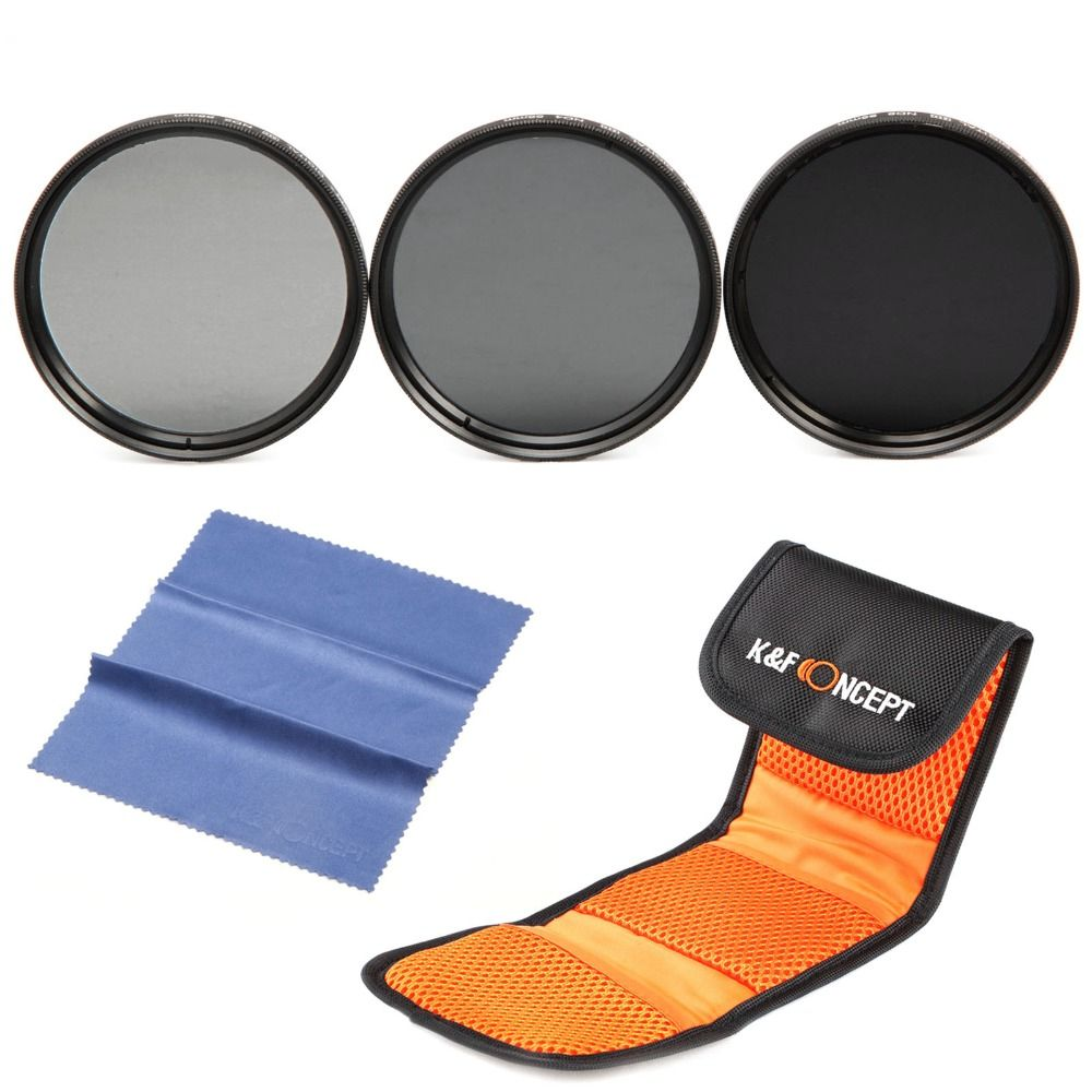 K&F Concept 37mm ND Filter Set ND2 ND4 ND8 Neutral Density ND Filter Kit For Canon 700D 1100D 1200D 600D 400D T3i T2i T4i