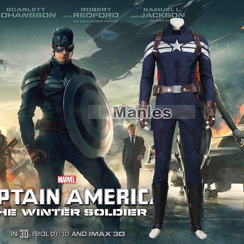 Die Winter Soldier Steve Rogers Kostüm Cosplay Captain America 2 Superhero Anzug Bekleidung Erwachsene Halloween Karneval Kostüm Männer