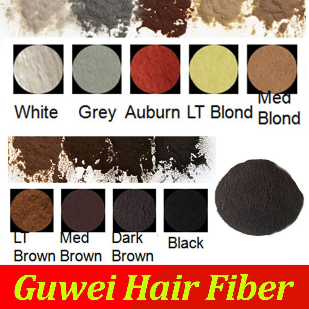 Hair building fibers in KGS raw material in bulk 1000g black , dark brown 9 colors in available for hair loss thinning
