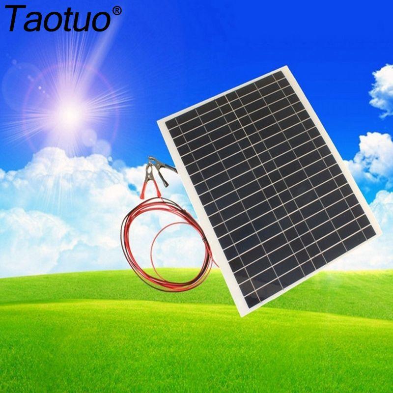 Taotuo 12 V 20 W Polycristallin Économie Semi-flexible Panneaux Solaires Pour RV voyage/bateau/voiture 20 Watt 12 V DC PV Poly Solaire Module