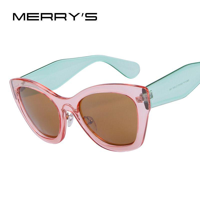 Merry's бабочки Марка очки модные Защита от солнца очки Для женщин Кошачий глаз Защита от солнца Очки высокого качества Óculos UV400