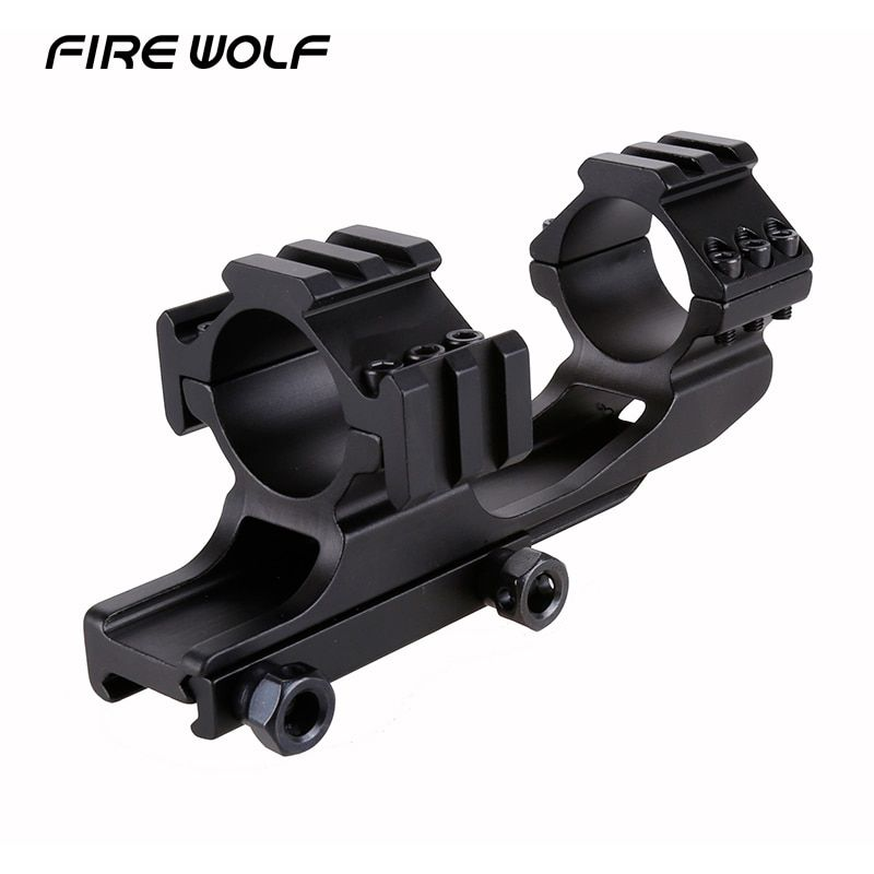 FIRE WOLF 10cm 30mm Airgun Rings W/stop Pin 20mm Rail High Profile Dovetail Rings 11mm One Piece Hunting Scope Mount Sling Mount