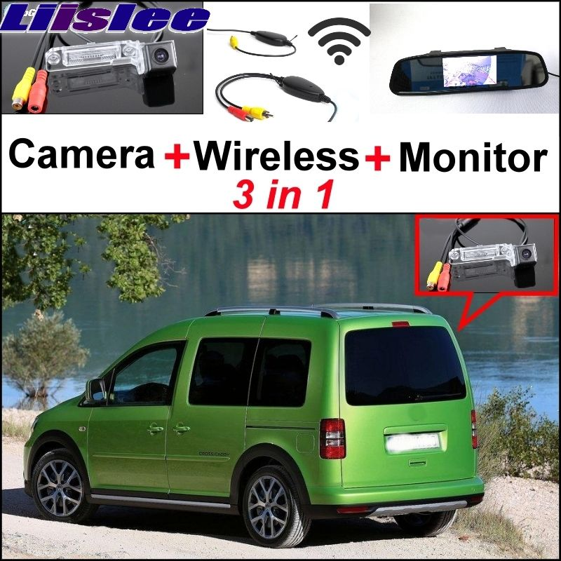 Liislee Special Rear View Camera + Wireless Receiver + Mirror Monitor Easy Backup Parking System For Volkswagen VW Caddy 2K MK2