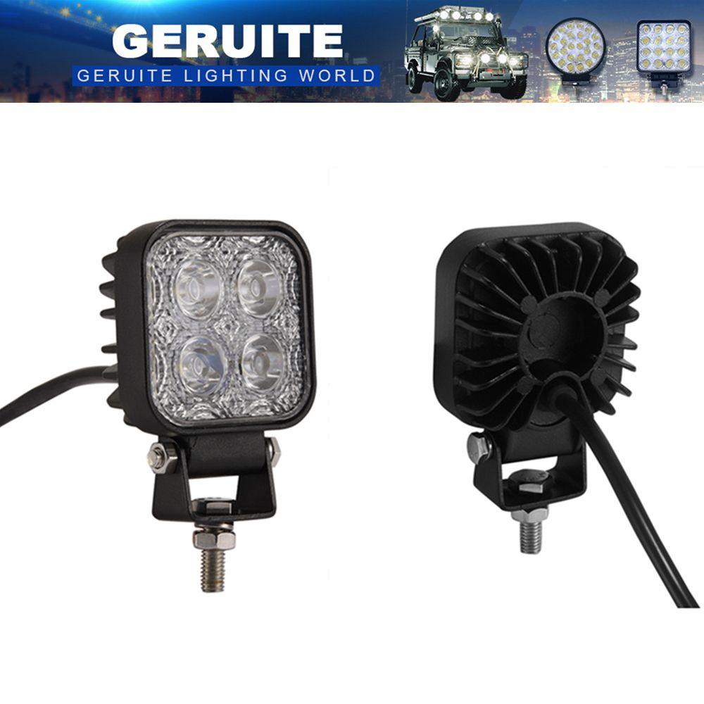 2 pièces projecteurs LED 900LM Mini 6 pouces 12 W 4 LED s voiture IP65 lumière LED Bar comme projecteur de lumière de travail Spot pour la pêche nautique SUV
