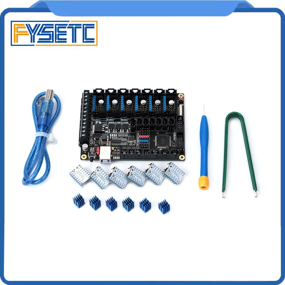 FYSETC F6 V1.3 Board ALL-in-one Electronics Solution Mainboard + 6pcs Special TMC2130 V1.2 For SPI Function Flying Wire