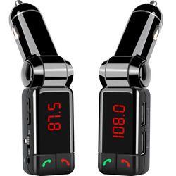 Transmisor Bluetooth del coche BC06B LCD MP3 transmisor FM SD USB cargador manos libres Mp3 entrada Aux reproductor para iOS y Android teléfonos