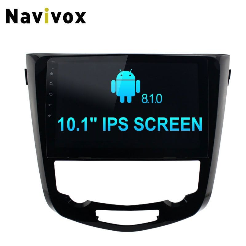 Navivox 10.1'' 2Din Android 8.1 Car DVD Player Octa Core 2G + 32G GPS Navigation Radio For Nissan X Trail X-Trail 2014-2016