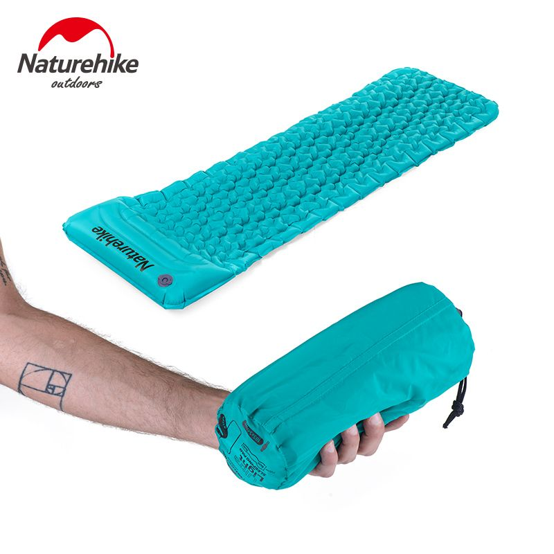 Naturehike Outdoor Inflatable Cushion Sleeping Bag Mat Fast Filling Air Moistureproof Camping Mat With <font><b>Pillow</b></font> Sleeping Pad 460g