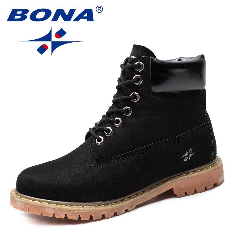 BONA Neue Ankunft Klassiker Stil Frauen Stiefel Flock Frauen Winter Schuhe Runde Kappe Dame Stiefeletten Komfortable Schnelles Freies Verschiffen