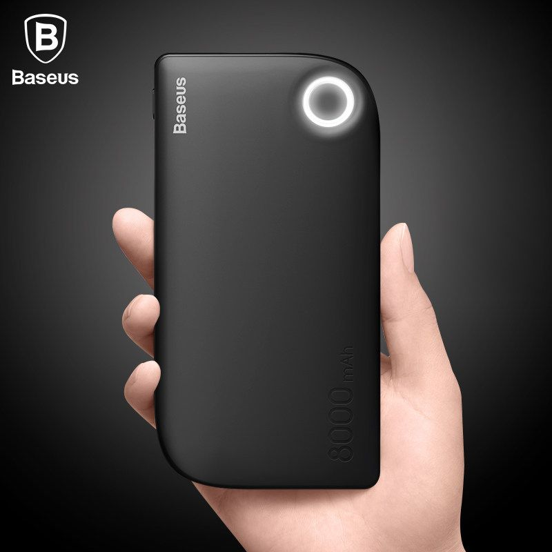 Baseus Dual USB Ausgang 8000 mAh energienbank Portable Handy-ladegerät Externe Batterie Für iPhone Xiaomi Power