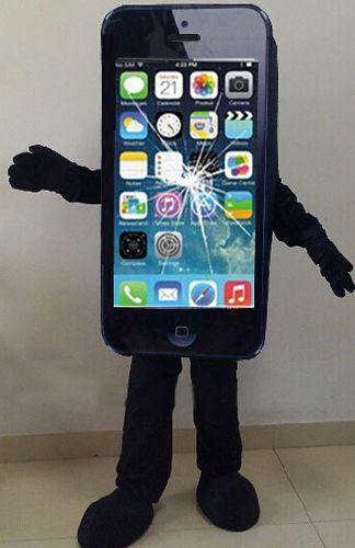 Vente chaude iPhone 5C/Apple Téléphone portable Costume Vous pouvez personnaliser LOGO dans son dos Adulte Taille