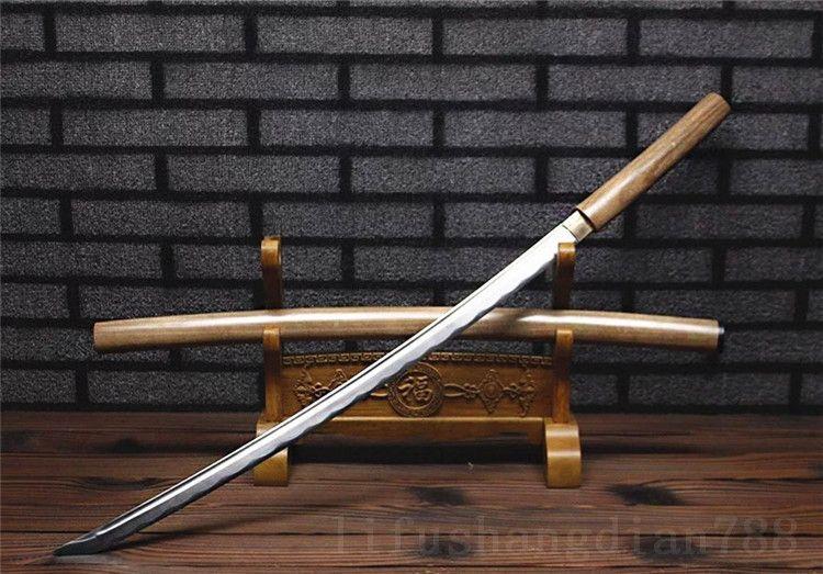 39 SHARP 1060 high carbon stahl klinge gefälschte hamon full tang schlacht bereit shirasaya kann bambus geschnitten baum