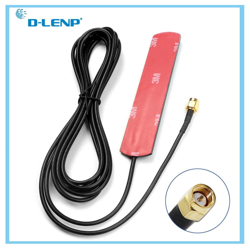 Dlenp 2dbi/3dbi GSM Antenna with SMA Male Connector Gsm Aerial RG174 With 2.5M Length Cable for GSM