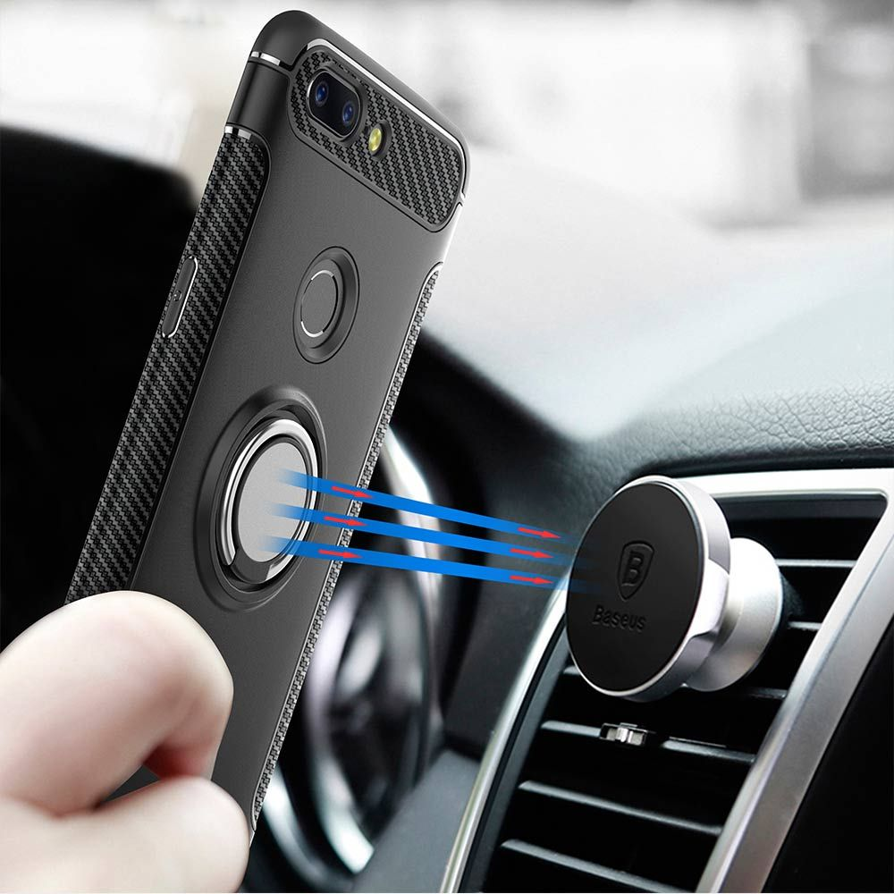 YOYO DEER Hybrid Case For OnePlus 5T Car Magnetic Holder Finger Ring Shockproof TPU+PC Cover For One Plus 5T 5 T Phone Cases