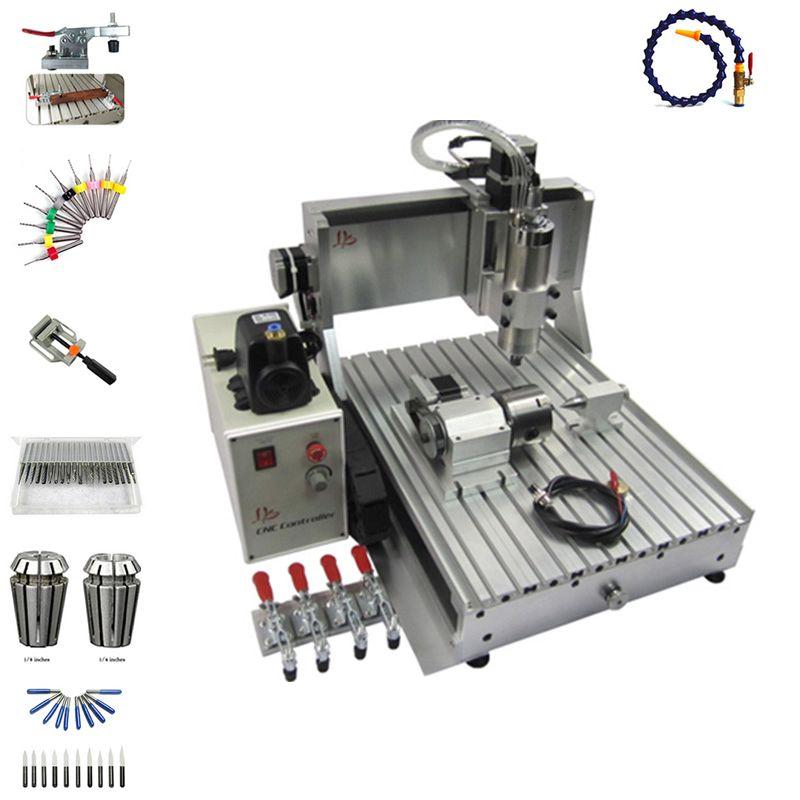 1500 W spindel 3 achsen cnc router 3040 4 achse PCB fräsen maschine mit cutter collet schraubstock bohren kits
