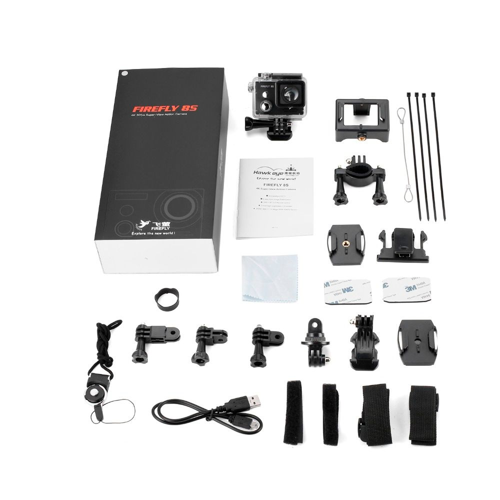 1pcs Hawkeye Firefly 8S 4K Distortionless Camera Aerial Photography Camera Recorder