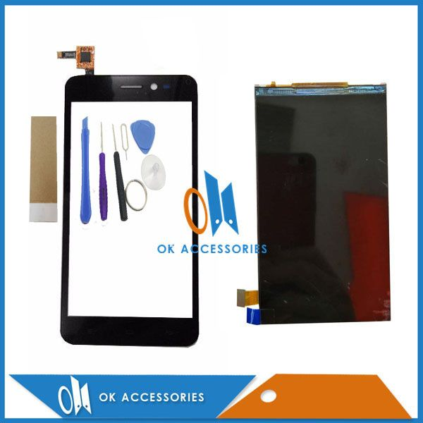 5.0 Inch Black Color For Explay PuLsar LCD Display Screen Touch Screen Digitizer High Quality With Tools & Tape