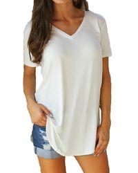 4XL 5XL Plus Size Women's Clothing Fashion Big Size T-shirt Female Solid V Neck Short Sleeve Long Casual Tee Shirt Tops Femme