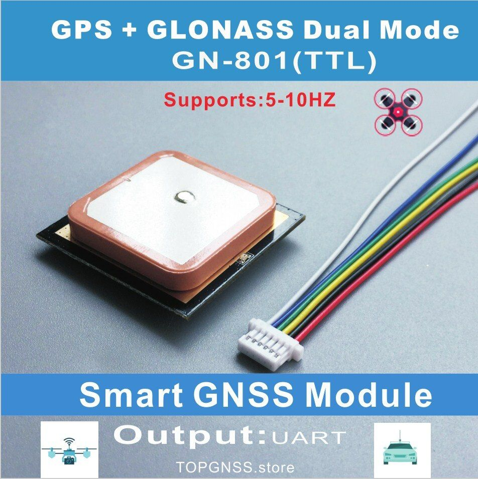 Ublox Neo-M8N module chip UART TTL Smart GPS gnss  antenna dual GLONASS receiver integrated Flash support NMEA settings save