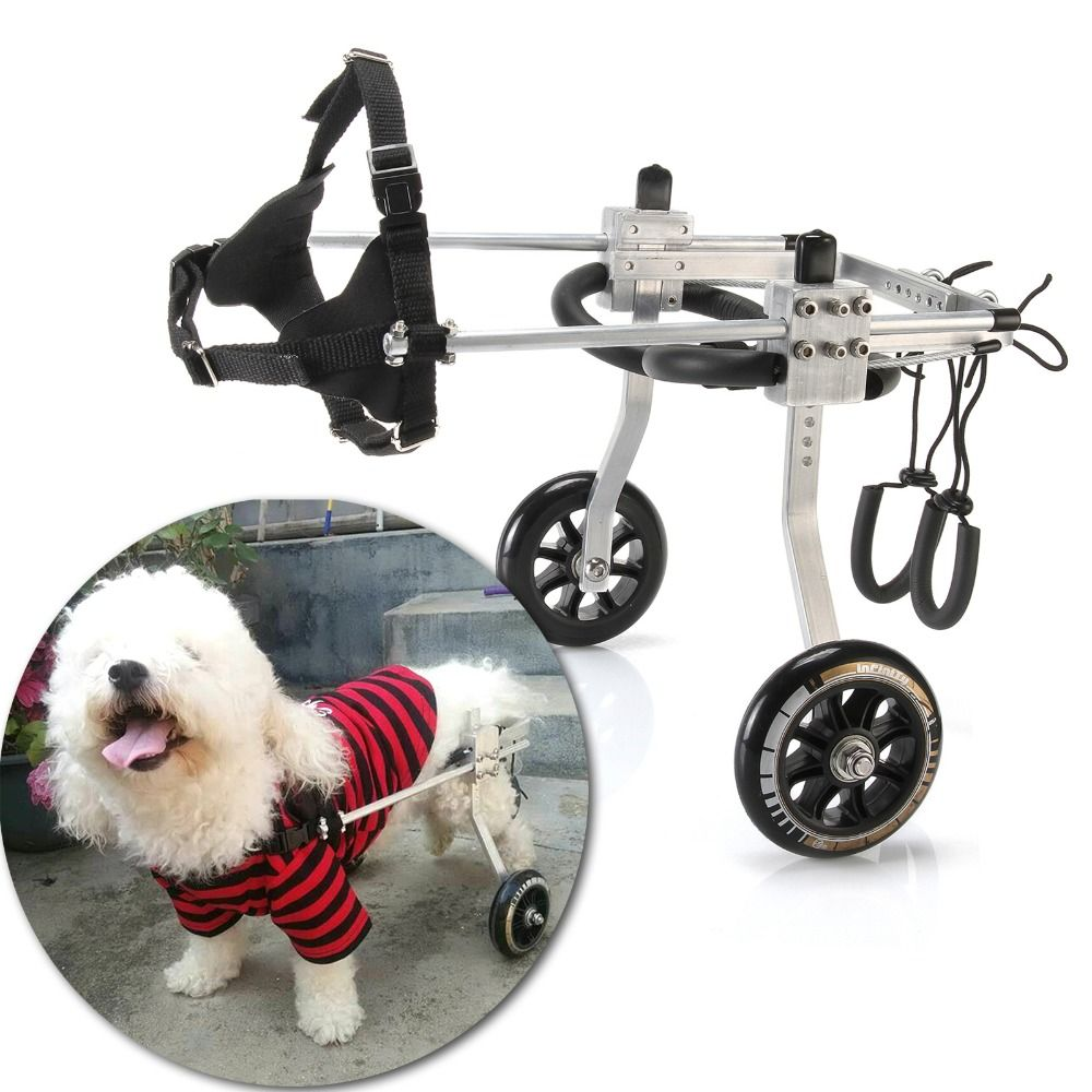 3 Size Professional Dog Wheelchair Aluminum Stainless Steel Cart Rear Dog Wheelchair for Handicapped Pet Dog Walk