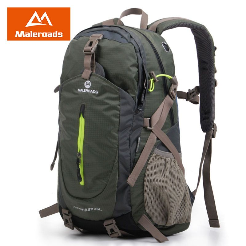 Maleroads Rucksack Hiking Backpack Travel Backpack Outdoor Sport Bag Waterproof Backpack Camp Pack Trekk Rucksack Men Women 40L