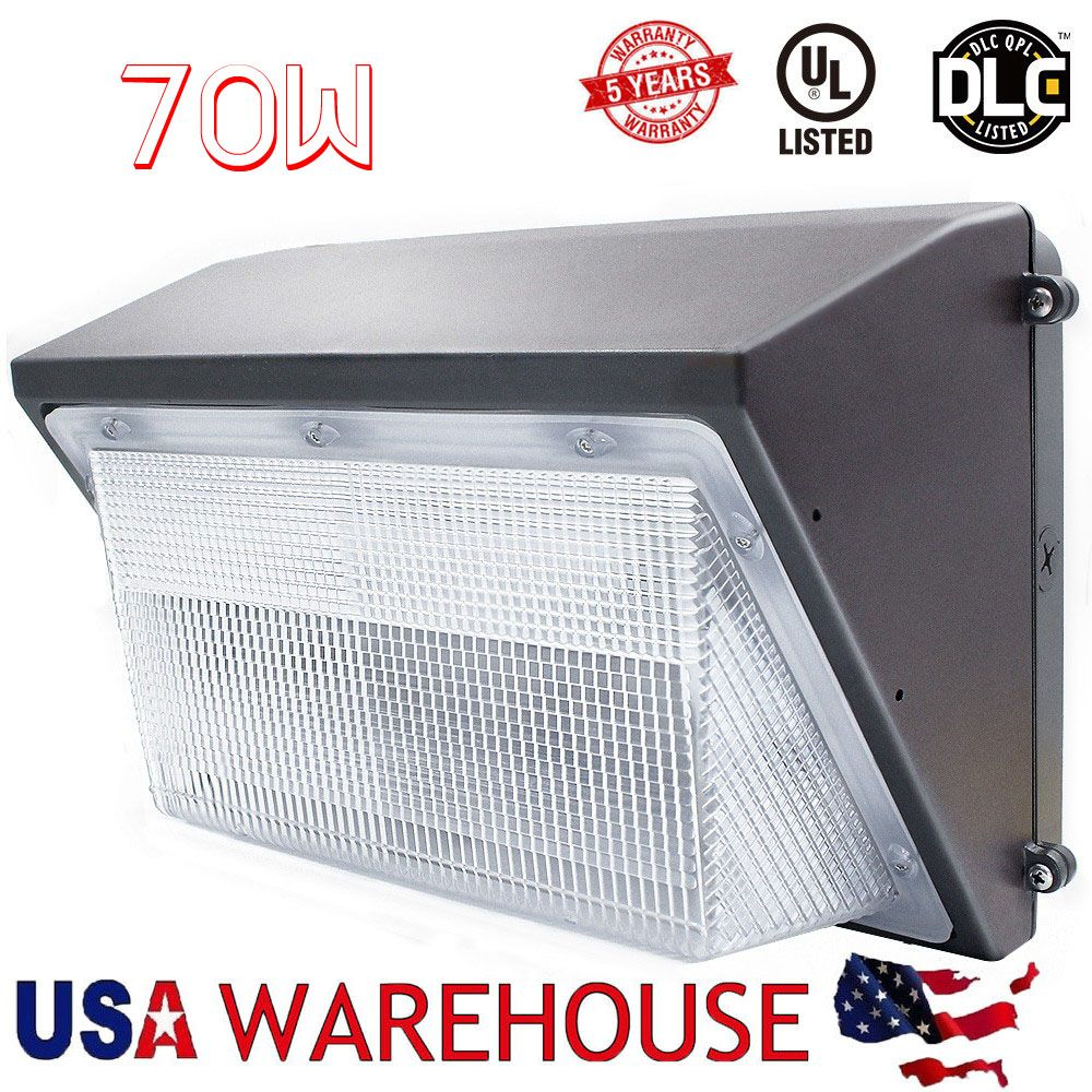 70W Led Wall Pack Light 250-300W HPS MH Bulb Replacement,100-265V Outdoor Wall Lamp Floodlight Light USA Fast Delivery
