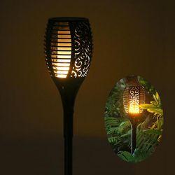 Solaire alimenté LED Flamme Lampe Étanche 96 Led Pelouse Flamme Vacillante Torche Lumière Extérieure Solaire LED Feux de Feu Décoration De Jardin