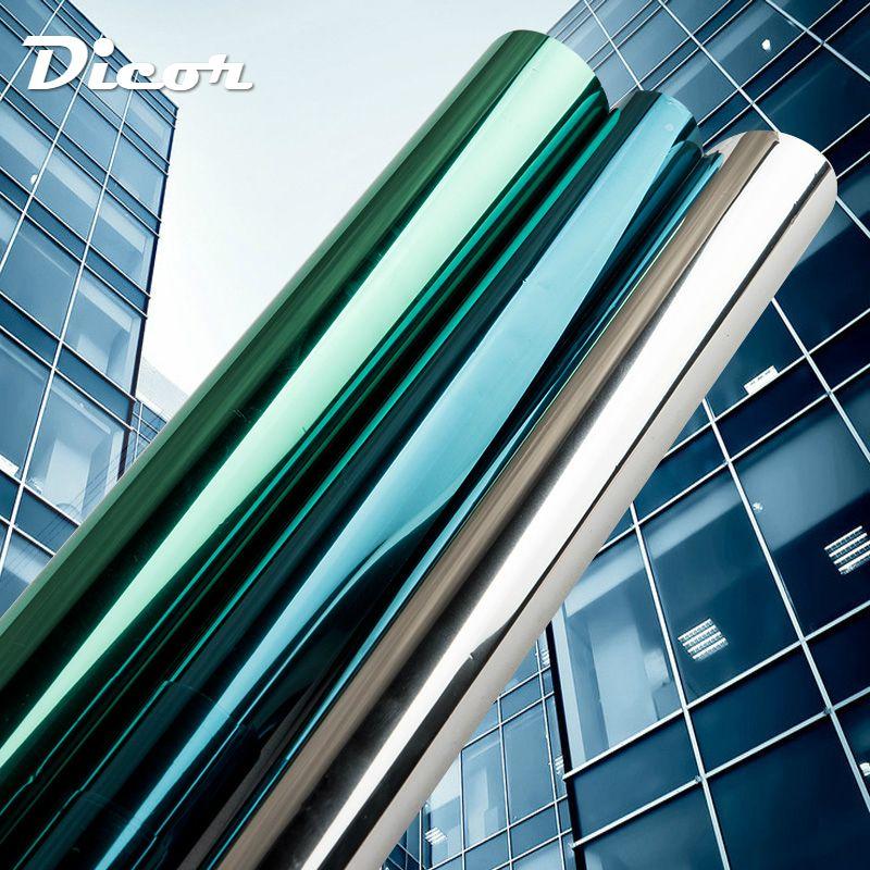 40/50/60/70/80/90*500 CM isolation miroir teinte solaire Film de fenêtre autocollants UV réfléchissant One Way intimité décoration pour verre