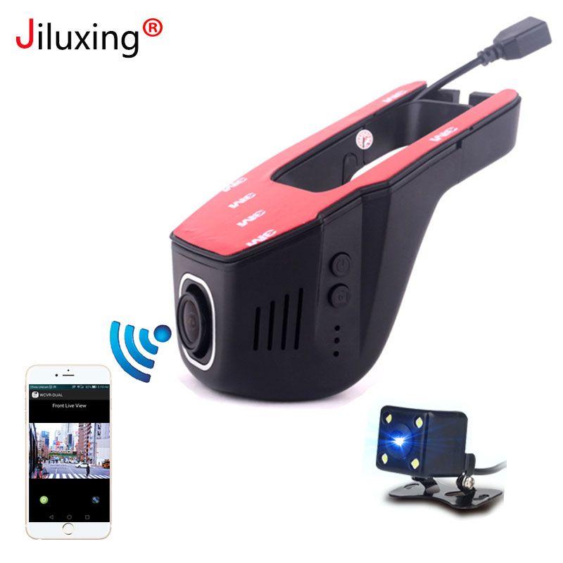 Jiluxing 1080 p mini WIFI Auto DVR zwei kameras Dash Cam Video Recorder auto kameras Dvr App Control Verbesserte chip LT8724 Schleife video