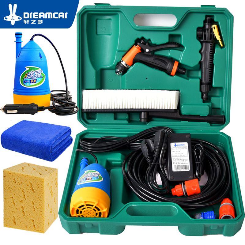 Nettoyeur haute pression lave-auto 12v lave-linge voiture Portable lave-auto dispositif ménage pompe à laver voiture outils pistolet à eau