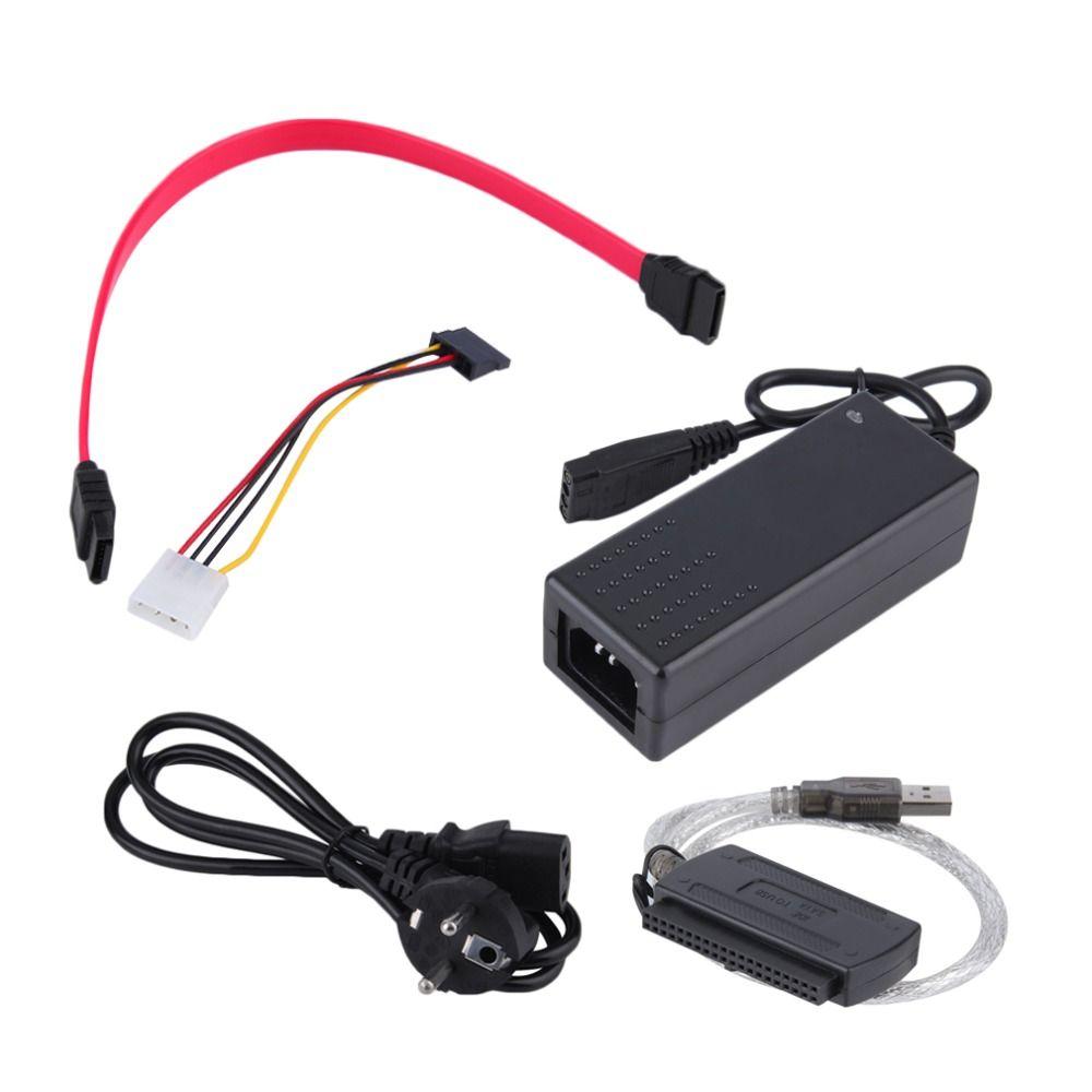 USB 2.0 zu IDE SATA S-ATA 2,5 3,5 HD HDD Festplatte Adapter Konverter Eu-stecker
