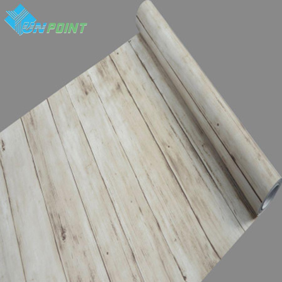 Autocollants muraux imperméables en PVC motif bois papier peint auto-adhésif vieux meubles armoire porte de placard vinyle autocollant décoratif