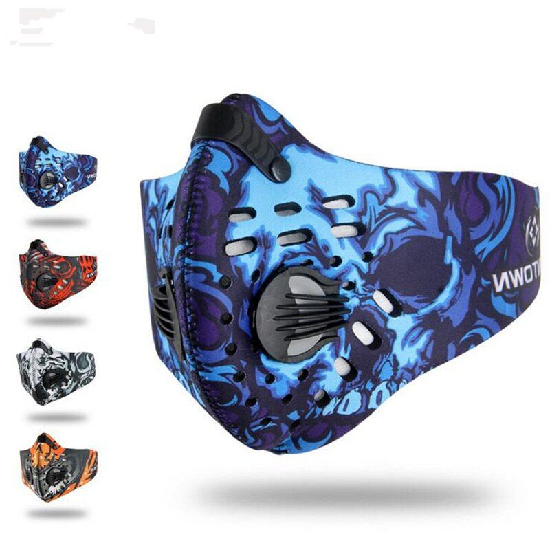 2017 Cycling Face Masks Activated Carbon Floor-Faces Sports Bike Training Mesh Dust Mask / Filter Anti Pollution Ciclismo