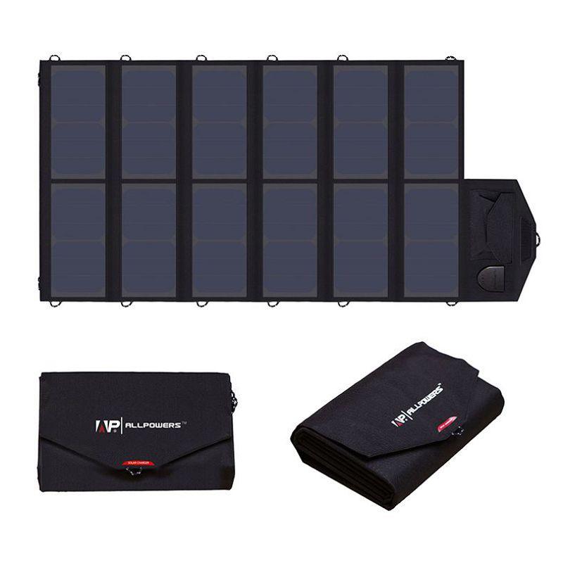 ALLPOWERS High Efficiency Solar Charger System 5V 12V 19V Charging for Mobile Phones/Tablets/Laptops/12V Car Battery/Speaker etc