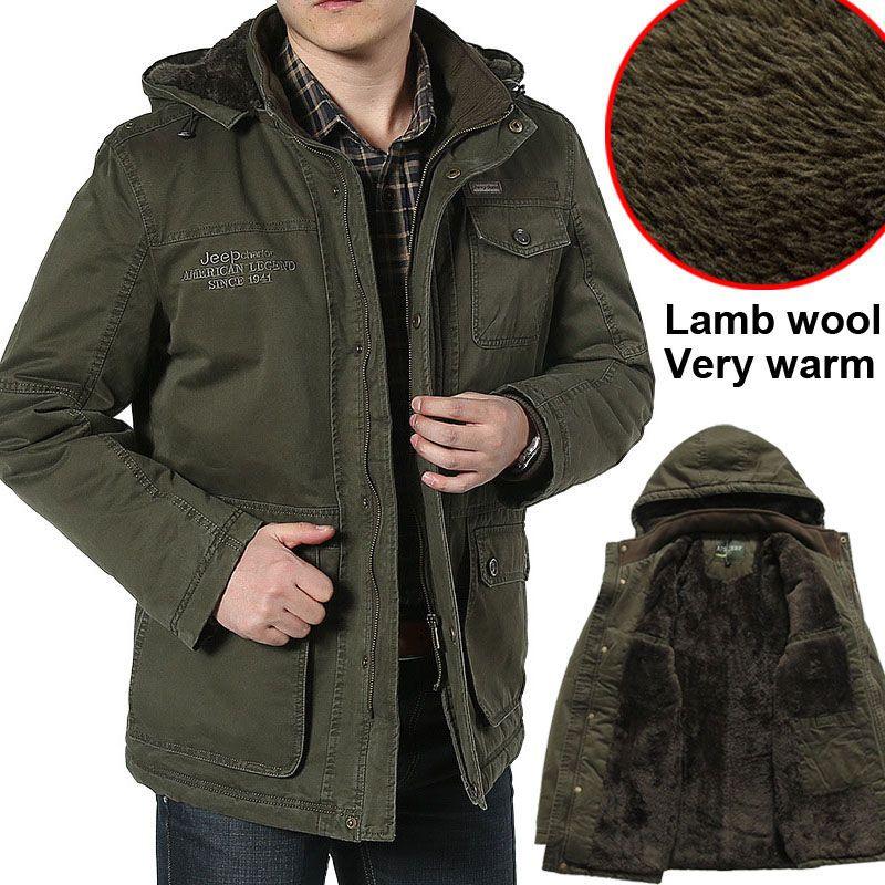 2018 Jeep Большие размеры 6XL 7XL 8XL Высокое качество зимние Для мужчин бренд куртка утолщение теплые куртки человека руно Мужские парки на открыто...