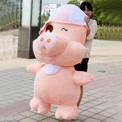 Gratis pengiriman LMcDull babi mainan mewah boneka babi Besar boneka kain tahun baru hadiah untuk anak ulang tahun hadiah untuk gadis kartun boneka boneka